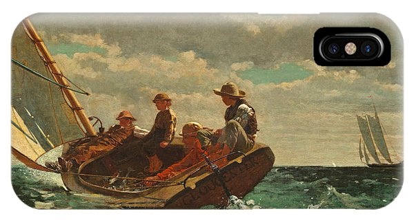 Homer iPhone Case - Breezing Up by Winslow Homer