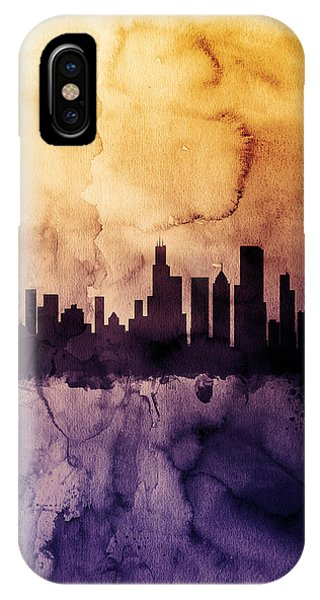 University Of Illinois iPhone Case - Chicago Illinois Skyline by Michael Tompsett