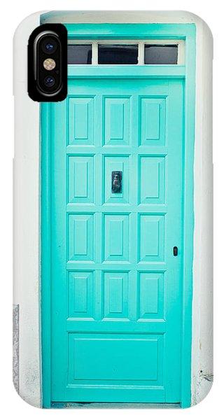 Blue iPhone Case - Front Door by Tom Gowanlock