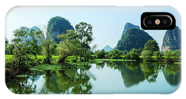 IPhone Case featuring the photograph Karst Rural Scenery by Carl Ning