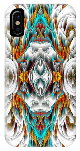 IPhone Case featuring the digital art 992.042212mirror2ornategold-1-a by Kris Haas