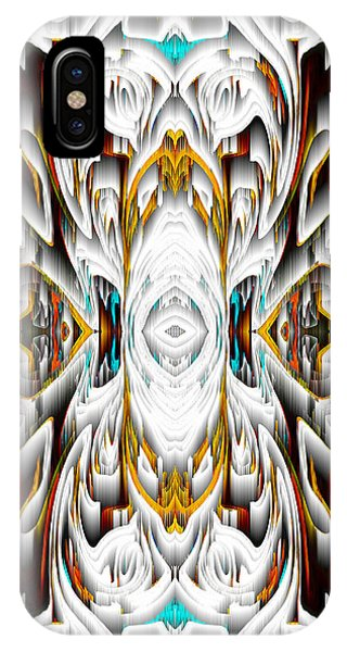 IPhone Case featuring the digital art 992.042212mirror2ornateredagold-1a-1 by Kris Haas