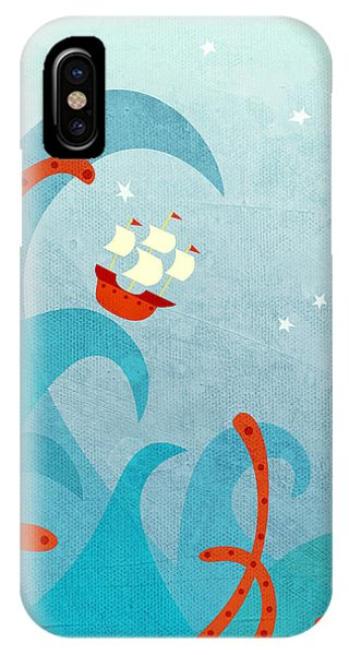 Boats iPhone Case - A Bad Day For Sailors by Nic Squirrell