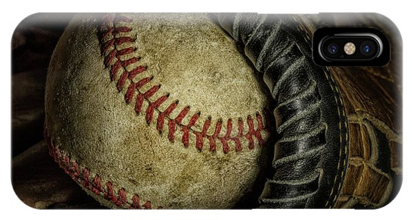 Baseball Gloves iPhone Case - A Baseball Still Life by Tom Mc Nemar