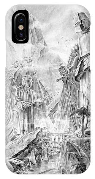 IPhone Case featuring the drawing A Bay Of Numenor by Kip Rasmussen