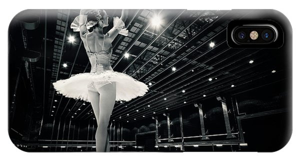 IPhone Case featuring the photograph A Beautiful Ballerina Dancing In Studio by Dimitar Hristov