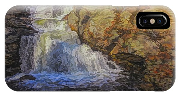 A Beautiful Connecticut Waterfall. IPhone Case