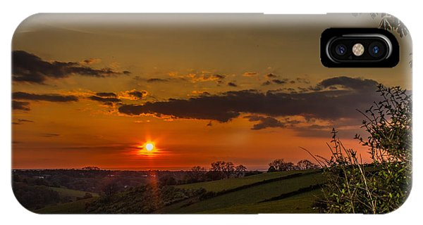 A Beautiful Sunset Over The Surrey Hills IPhone Case