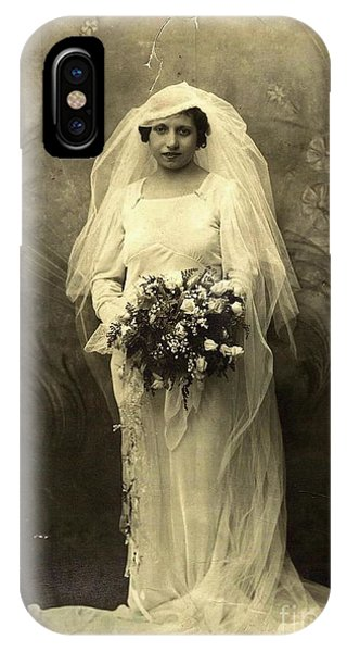 A Beautiful Vintage Photo Of Coloured Colored Lady In Her Wedding Dress IPhone Case