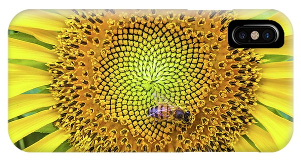 A Bee On A Sunflower IPhone Case