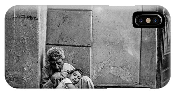 Donation iPhone Case - A Beggar And Child In San Juan., Daily Life In Puerto Rico, C. 1938-1942, By Jack Delano, Fsa by Jack Delano