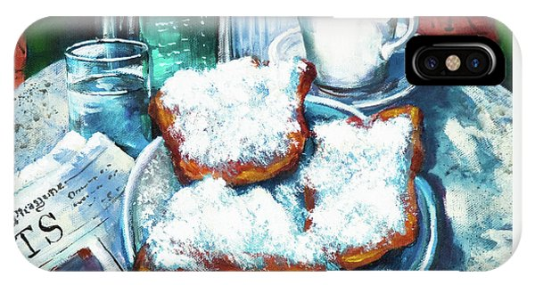 Food And Beverage iPhone Case - A Beignet Morning by Dianne Parks