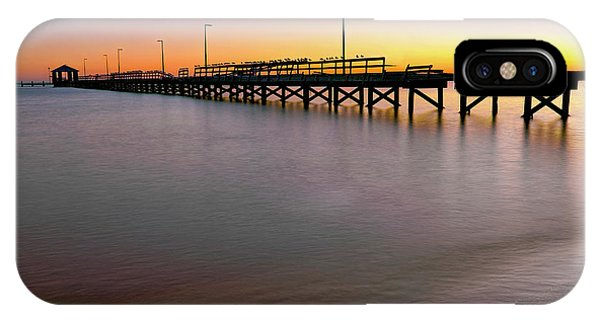 IPhone Case featuring the photograph A Biloxi Pier Sunset - Mississippi - Gulf Coast by Jason Politte