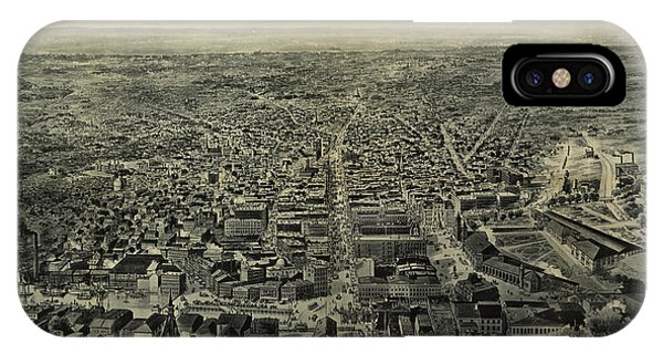 1895 iPhone Case - A Bird's-eye View Of Providence Showing The New Railroad Station And State House by Chapin