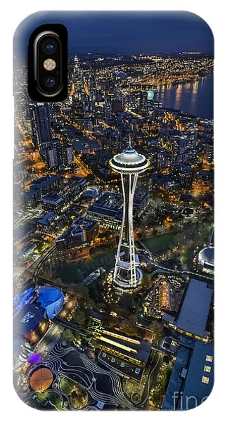 A Birds-eye View Of Seattle IPhone Case