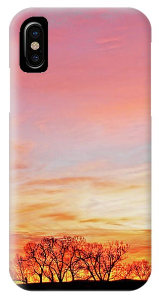 IPhone Case featuring the photograph A Blaze Of Color Montana Morning by Jennie Marie Schell