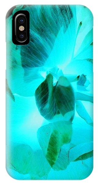 iPhone X Case - A Bloom In Turquoise by Orphelia Aristal