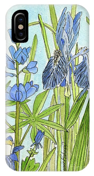 A Blue Garden IPhone Case
