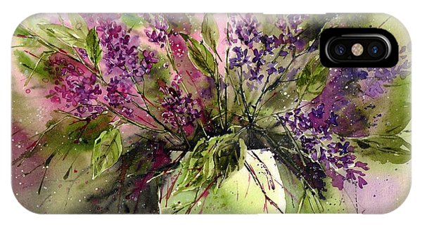 Green Fields iPhone Case - A Bouquet Of May-lilacs by Suzann Sines