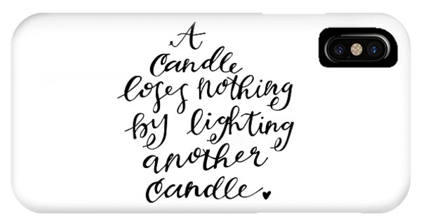 A Candle IPhone Case