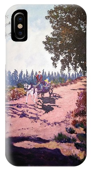 IPhone Case featuring the painting A Carriage And A Horse by Ray Khalife