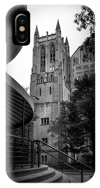 A Charlotte Church Tower In Black And White IPhone Case
