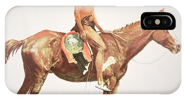 Wild Horses iPhone Case - A Cheyenne Brave by Frederic Remington
