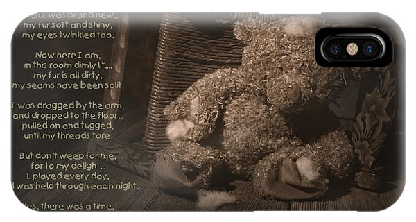 Poetry iPhone Case - A Child Once Loved Me Poem by Tom Mc Nemar