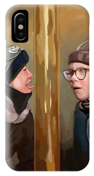 A Christmas Story Tongue Stuck To Pole IPhone Case
