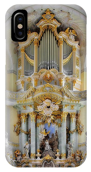 Organ iPhone Case - A Church Filled With Music - Church Of Our Lady Dresden by Christine Till