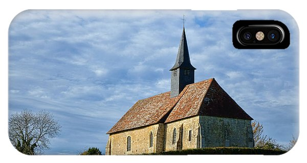 Normandy iPhone Case - A Church In France by Olivier Le Queinec