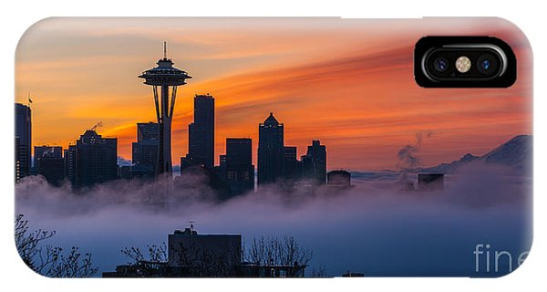 Downtown Seattle iPhone Case - A City Emerges by Mike Reid