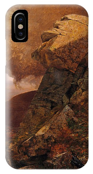 Jervis iPhone Case - A Cliff In The Catskills by Jervis McEntee