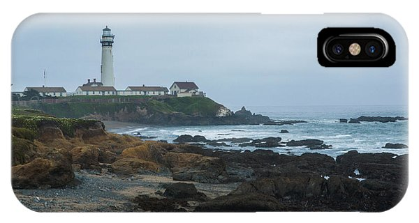 A Cloudy Day At Pigeon Point IPhone Case