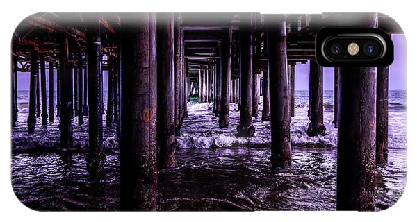 A Cloudy Day Under The Pier IPhone Case