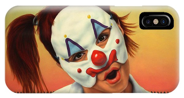 Fence iPhone Case - A Clown In My Backyard by James W Johnson