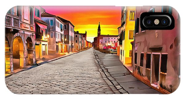 A Cobblestone Street In Venice IPhone Case