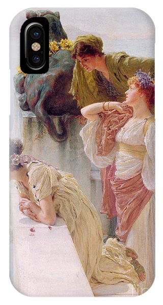 1895 iPhone Case - A Coign Of Vantage by Sir Lawrence Alma-Tadema