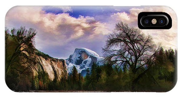 A Cold Yosemite Half Dome Morning IPhone Case