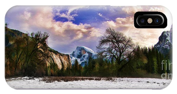 A Cold Yosemite Half Dome Morning IPhone Case