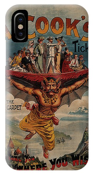 Tickets iPhone Case - A Cook's Ticket - The Magic Carpet - Vintage Advertising Poster by Studio Grafiikka