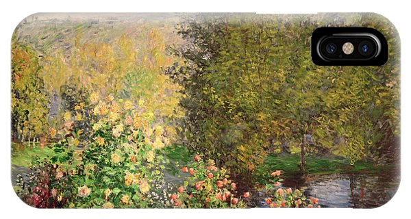 Bloom iPhone Case - A Corner Of The Garden At Montgeron by Claude Monet
