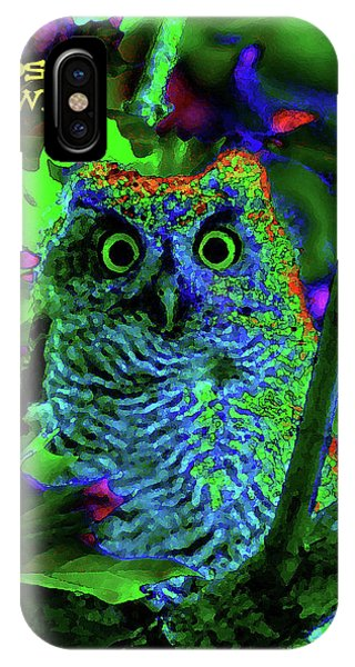 A Cosmic Owl In A Psychedelic Forest IPhone Case