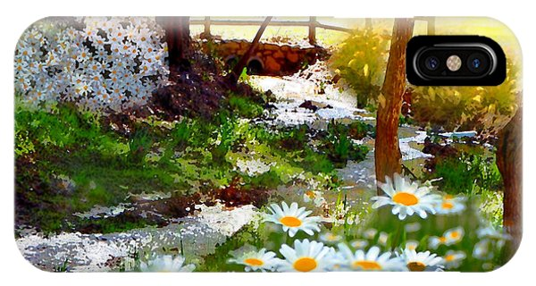 A Country Stream With Wild Daisies IPhone Case