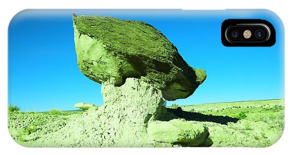 Middle Of Nowhere iPhone Case - A Crooked Toad Stool New Mexico by Jeff Swan