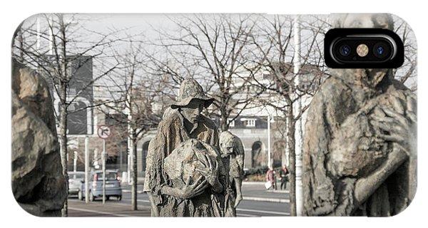 A Cruel World The Famine Sculpture IPhone Case