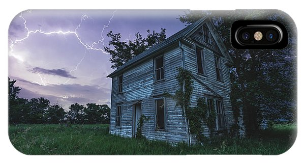 Abandoned Houses iPhone Case - A Dark And Stormy Place by Aaron J Groen