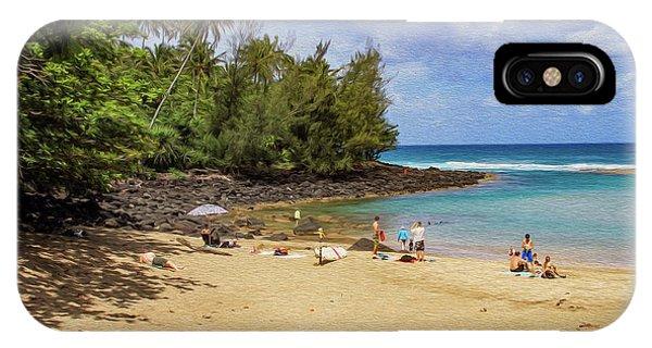 A Day At Ke'e Beach IPhone Case