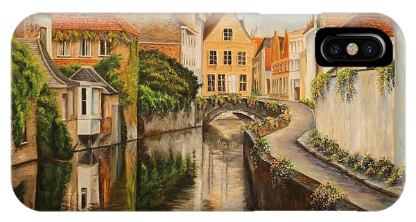 French Artist iPhone Case - A Day In Brugge by Charlotte Blanchard
