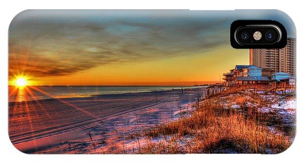A December Beach Sunset IPhone Case